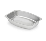 Vollrath 47334 Miramar Food Pan, 2.3 qt, Bowed Rectangle, 1-1/2 in D, Stainless Steel