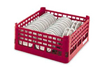 Vollrath 52743 Caterack, Medium, Polypropylene, Holds 30 Plates, Red