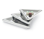 Vollrath 82068 Large Triangular Serving Tray, 17 in, Stainless Steel