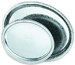 Vollrath 82110 Oval Serving Tray, 16 in x 12 in Stainless Steel