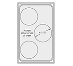 Vollrath 8240912 Miramar Template for Three Small Round Pans, Oyster Color