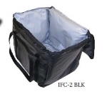 Intedge  Cadura Nylon Insulated Food Carrier, 20 x 20 x 12-in, Black