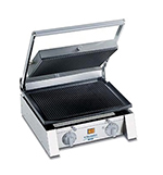 Dito-Electrolux 602106 Panini Grill, 15 in Wide, Smooth Top & Bottom, Cast Iron Plates, 120/1