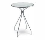 EmuAmericas 820 AIRON Cambi Bar Table, 32 in Diameter, Umbrella Hole, Mesh, Iron