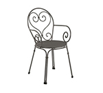 EmuAmericas 910 AIRON Pigalle Armchair, Design Pattern, Iron