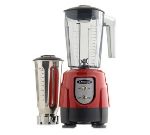 Omega BL390R Blender Combo Set, (1) 48-oz Copolyester & (1) 32-oz Stainless, Red