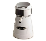 Omega C-10W Citrus Juicer w/ 3 Cones, Stainless Steel Bowl & Strainer, White