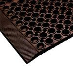 NoTrax 182741 San-Eze II Grease-Proof Floor Mat, 39 x 39 in, 7/8 in Thick, Red