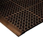 NoTrax 183137 San-EZE Grease Resistant Floor Mat, 39 x 39 in, 7/8 in Thick, Brown