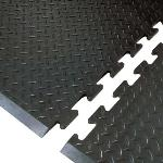 NoTrax 354605 Footsaver Solid Surface Rubber Mat, Beveled Edge, 28 x 31 in, End