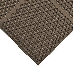 NoTrax 406178 Optimat Grease-Resistant Floor Mat, 36 x 36 in, 1/2 in Thick, Brown