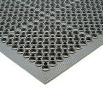 NoTrax 440446 Tek-Tough Jr Grease Resistant Floor Mat, 3 ft x 9 ft 10 in, 1/2 in Thick, Gray
