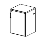 Perlick BNGS18 18-in Backbar Glass Storage Cabinet w/ Shelves, Stainless