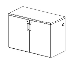 Perlick BR48 Backbar Storage Cabinet w/ Lock, 2-Section, Remote, Stainless