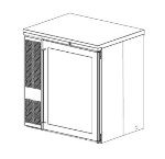 Perlick BS32-230 1-Section Backbar Storage Cabinet w/ Locks & Interior Lights, Export