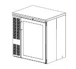 Perlick CS32ST 34-in High Cooler w/ Locking Glass Door, Stainless Front & Top