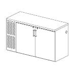 Perlick CS84ST 3-Section Cooler w/ Locking Glass Doors, Left Mount Condenser