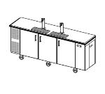 Perlick DC96SLT Portable Draft Beer dispenser w/ 4-Keg Capacity & Storage Bin