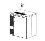 Perlick DS32SLT-230 Undercounter Draft Beer Dispenser w/ 1-Keg Capacity, 32-in, Export, Stainless