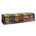 Perlick GMDS14X48 48-in Glass Merchandiser Ice Display w/ Dual Drain, 72-Bottle