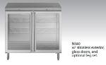 Perlick NR40 40-in Backbar Cabinet w/ 2 Reversible Doors, Lock, Remote, Stainless