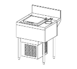 Perlick TSD24DC 24-in Underbar Unit for Ice Cream Center w/ Dipper Well & Faucet,