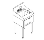 Perlick TS18HSN 18-in Underbar Hand Sink w/ Soap & Towel Dispenser, Stainless