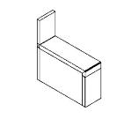 Perlick TSD6FA 6-in TSD Series Filler Section w/ Flat Top