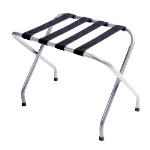 CSL Foodservice & Hospitality 0160S-BL 20.5-in Flat Top Economy Luggage Rack w/ Black Straps, Silver Metallic