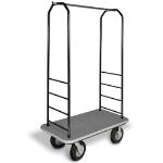 CSL Foodservice & Hospitality 2011BK-010 GRY Bellman Cart w/ Gray Carpet, 8-in Black Casters & Bumper, Black
