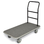 CSL Foodservice & Hospitality 2100GY-060 GRY Utility Cart w/ Gray Carpet, 5-in Gray Poly Casters w/ Black Bumper