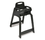 CSL Foodservice & Hospitality 333-BLK Lightweight Recycled Plastic High Chair, Assembled, Black