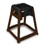 CSL Foodservice & Hospitality 866-BLK High Chair Infant Seat w/ Black Seat, Dark Brown Frame