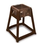 CSL Foodservice & Hospitality 866-BRN High Chair Infant Seat w/ Dark Brown Seat & Frame