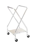 CSL Foodservice & Hospitality 1043-25 Laundry Bag Stand w/ Chrome Plated Shelf, 22 x 20 x 37-in