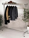 CSL Foodservice & Hospitality 1075-60P 60-in Portable Valet w/ Hat Rack, 18-Perma-Hangers, Chrome