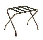 CSL Foodservice & Hospitality 155WA-BL-1 Luggage Rack w/ Black Straps, Flat Top, Walnut