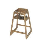 CSL Foodservice & Hospitality 801DK 27.5-in Stackable Deluxe Wooden High Chair, Dark Finish
