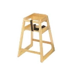 CSL Foodservice & Hospitality 800LT 27.5-in Stackable Deluxe Wooden High Chair, Light Finish