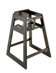 CSL Foodservice & Hospitality 804MH 27.5-in Stackable Deluxe Wooden High Chair, Mahogany
