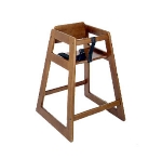 CSL Foodservice & Hospitality 824DK 27.5-in Stackable Economy Wooden High Chair, Dark Finish
