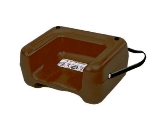 CSL Foodservice & Hospitality 857BRN-1 Booster Seat w/ Seat Belt & Dual Height, Extra Wide Base, Brown
