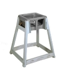 CSL Foodservice & Hospitality 877BRN High Chair Infant Seat w/ Brown Seat, Gray Frame