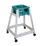 CSL Foodservice & Hospitality 877C-GRN High Chair Infant Seat w/ Green Seat, Casters, Gray Frame
