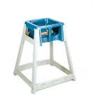 CSL Foodservice & Hospitality 888BLU High Chair Infant Seat w/ Blue Seat, Beige Frame
