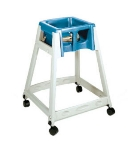 CSL Foodservice & Hospitality 888C-BLU High Chair Infant Seat w/ Blue Seat, Casters, Beige Frame