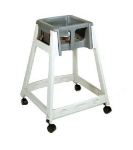 CSL Foodservice & Hospitality 888C-DGY High Chair Infant Seat w/ Dark Gray Seat, Casters, Beige Frame