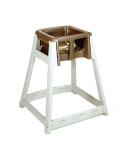 CSL Foodservice & Hospitality 888BRN High Chair Infant Seat w/ Brown Seat, Beige Frame