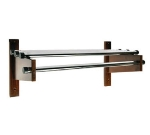 CSL Foodservice & Hospitality TDECR-30 M 30-in Designer Wooden Coat Rack w/ Channel Rod, Mahogany