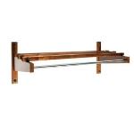 CSL Foodservice & Hospitality TEC24W 24-in Economy Wooden Coat Rack w/ Hanging Rod, Walnut